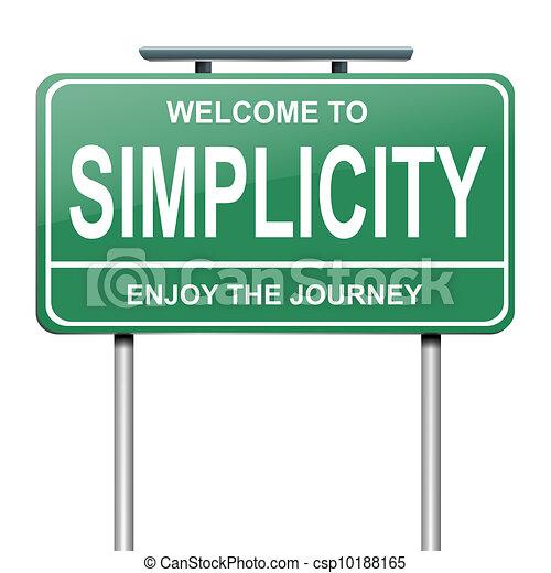 Simplicity concept. - csp10188165
