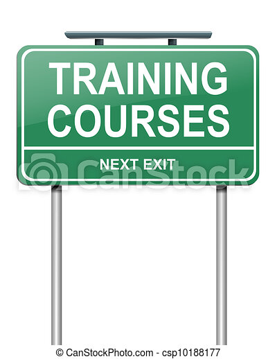 Training courses concept. - csp10188177