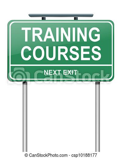 Training courses concept. - csp10188177