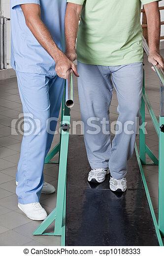Senior Man having ambulatory therapy - csp10188333