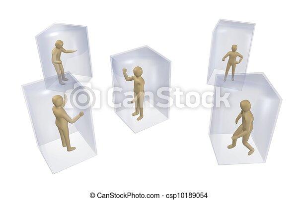 Individualism, loneliness, isolation - csp10189054