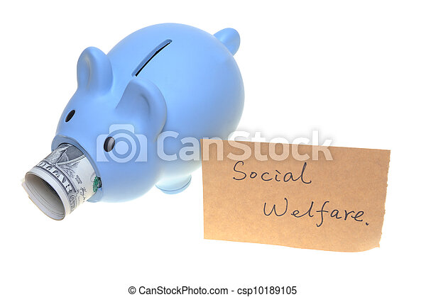 Piggy bank for social welfare - csp10189105