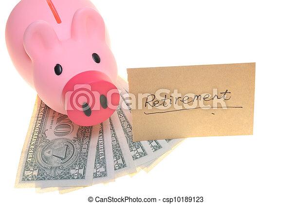 Piggy bank for retirement - csp10189123