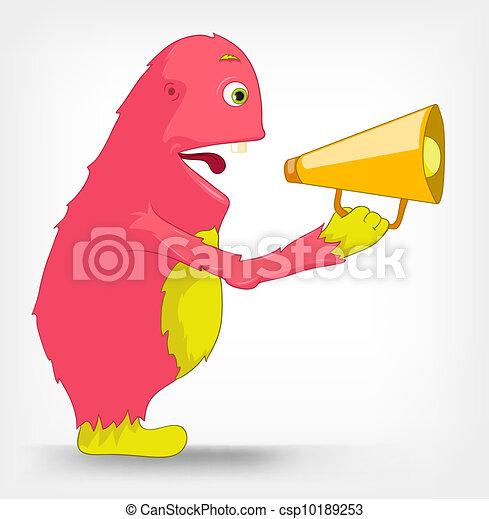 Funny Monster. Speaker. - csp10189253