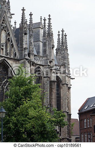 Sacred Rumold's cathedral in Malines, Belgium. It is entered in the list the world heritage of UNESCO - csp10189561