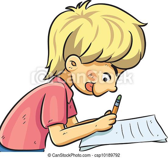 EPS vectores de niño, estudiar - caricatura, Ilustración, de, niño ...