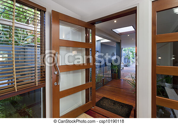 Modern home entrance - csp10190118