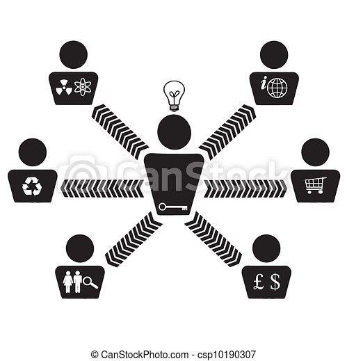 Organizational corporate teamwork - csp10190307