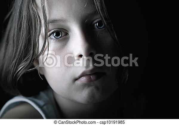 悲しい, 子供 - csp10191985