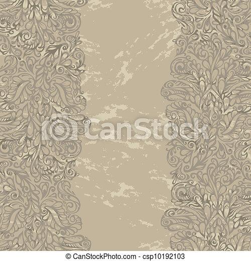 Floral design border in renaissance style - csp10192103