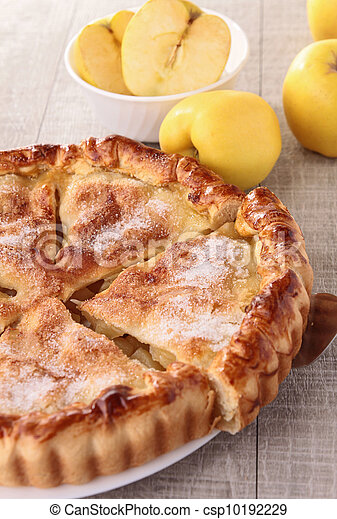 gourmet apple pie - csp10192229
