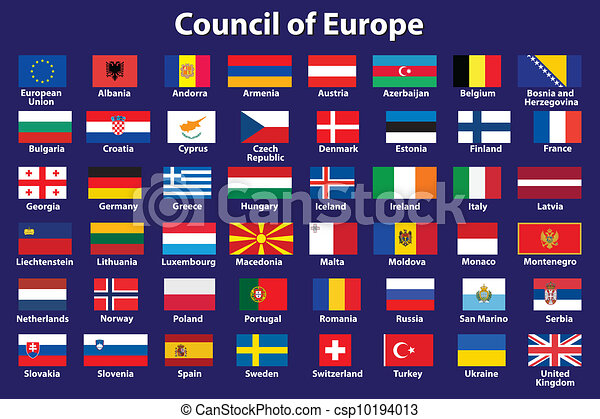 Council of Europe flags - csp10194013