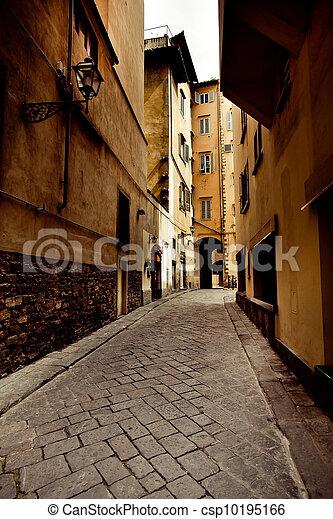 street in Firenze city, Italy - csp10195166