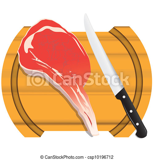 Clipart of Cutting board with meat - A fresh piece of meat ... - photo #49
