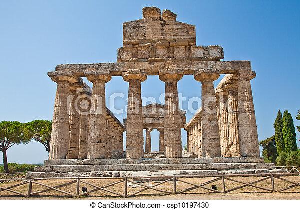Paestum temple - Italy - csp10197430