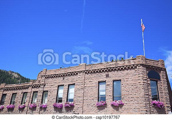 Historic building in Aspen - csp10197767
