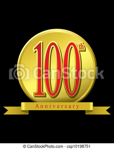Clipart Vector of 100 years anniversary - The abstract of ...