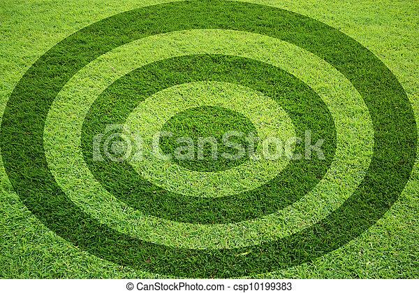target grass field