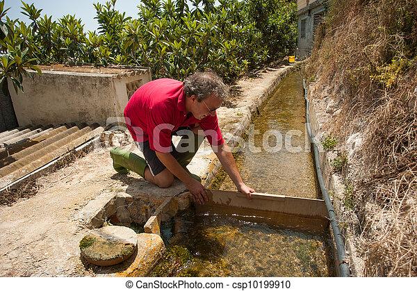 Traditional irrigation job  - csp10199910