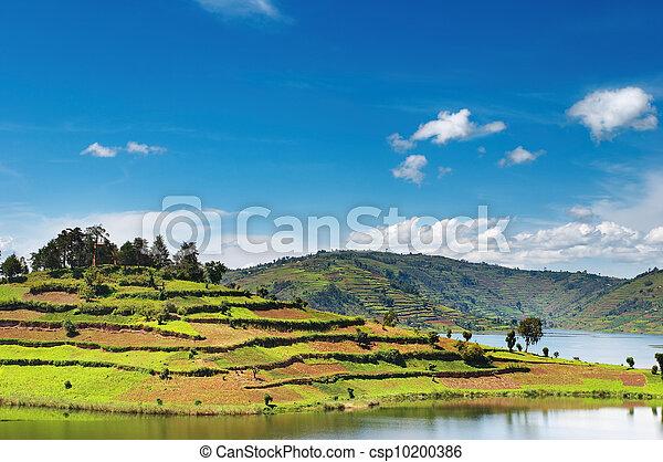 Bunyonyi lake in Uganda - csp10200386