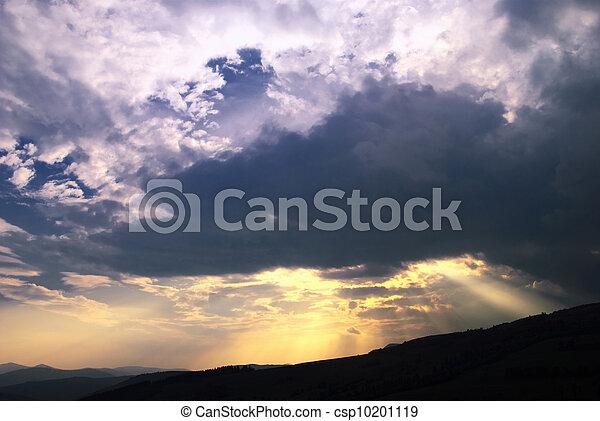 Sundown in mountains - csp10201119