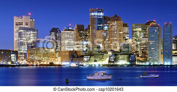 Downtown Boston Panorama - csp10201643