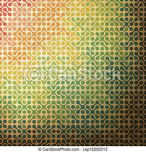 Abstract rainbow background made from joined parts. Vector, EPS10 - csp10202312