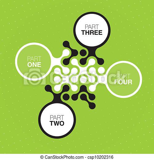 Green buttons (abstract interface design). Vector, EPS10 - csp10202316