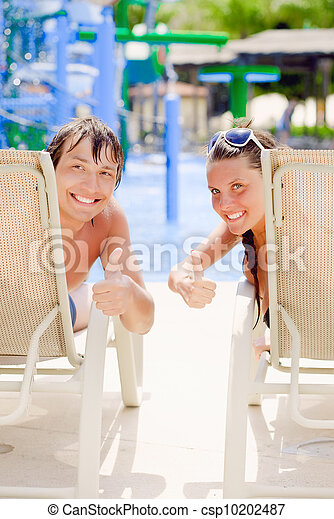 A couple is sunbathing - csp10202487