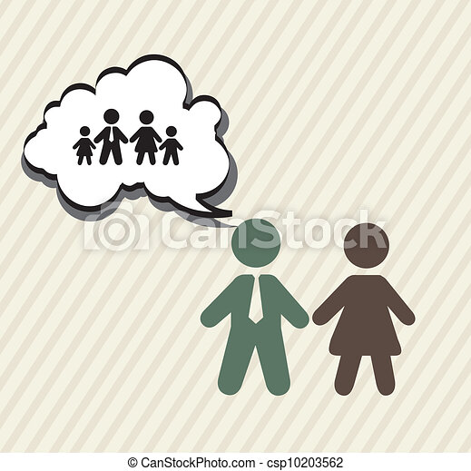 Clip Art Vector Of Family Planning With Signs Vintage
