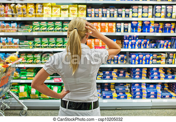 selection in a supermarket - csp10205032