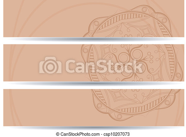 set of vector horizontal banners hand drawing. EPS10 - csp10207073