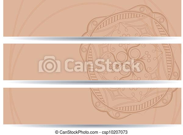 set of vector horizontal banners hand drawing. EPS10 - csp10207073