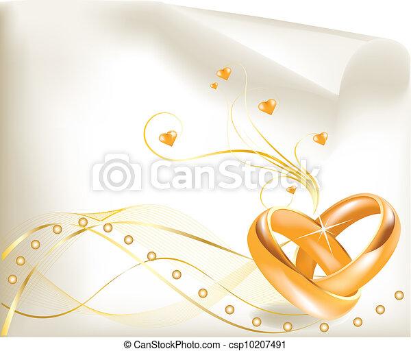Wedding Rings Logo Wedding Rings 3d Golden