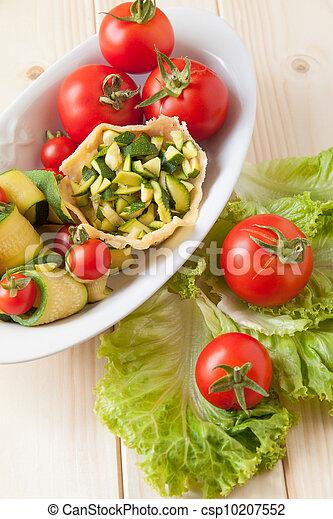 Basket of Parmesan with veggies - csp10207552