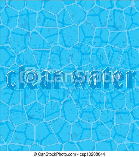 Dibujos de agua  estructural cuadrcula de agua pura con un