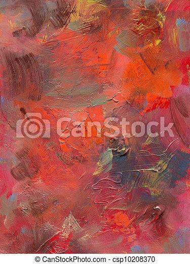 oil paint and acrylics on hardboard - csp10208370