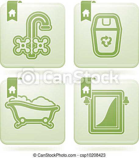 Vector ba o utensilios stock de ilustracion for Utensilios cuarto de bano