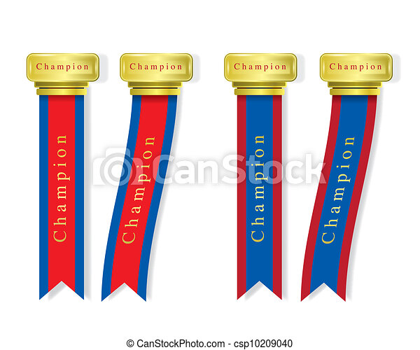 Vertical ribbon congratulation - csp10209040