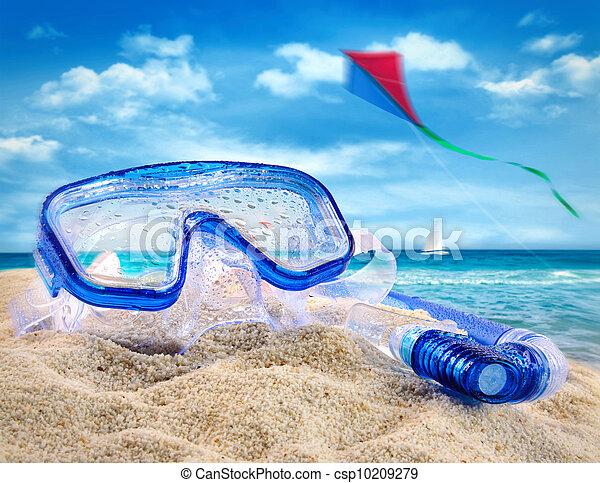Summer fun at the beach - csp10209279