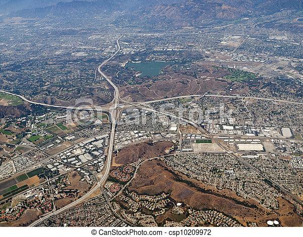 Pomona, Diamond Bar and San Dimas California Aerial - csp10209972
