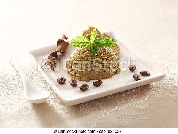 Cool refreshing coffee ice-cream - csp10210371