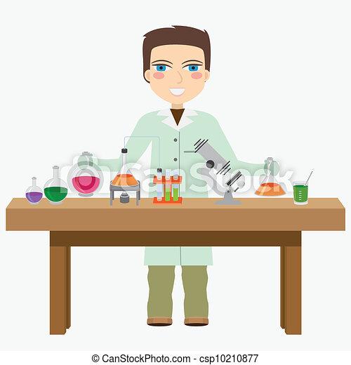Chemist in the laboratory. - csp10210877