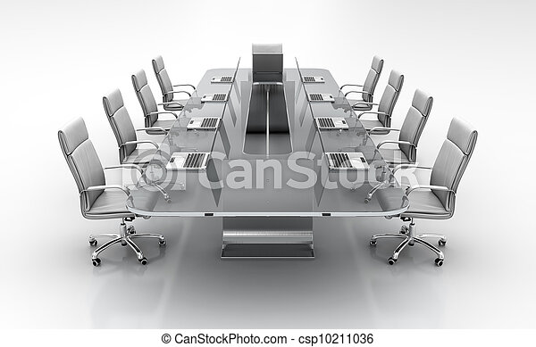 Conference table. - csp10211036