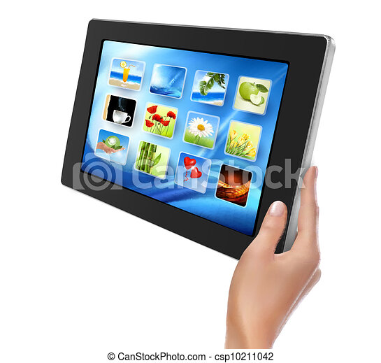 Hand holding touch pad pc - csp10211042