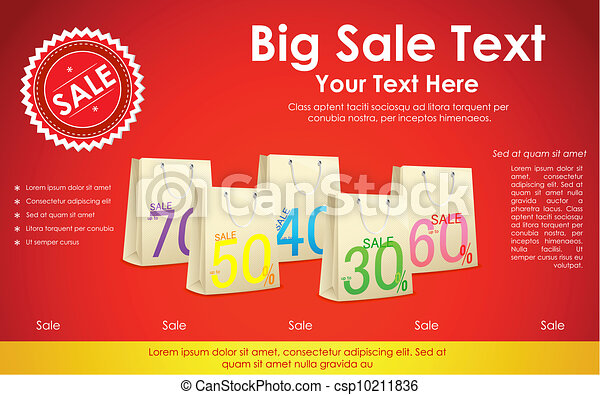Sale Background with Shopping Bag - csp10211836