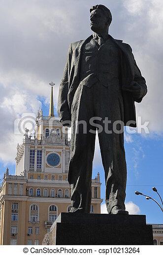 Vladimir,  Mayakovsky, estatua, moscú - csp10213264