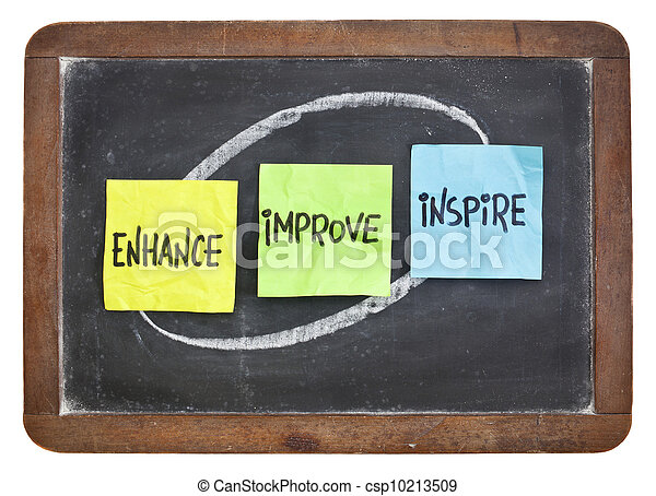 enhance, improve, inspire on blackboard - csp10213509