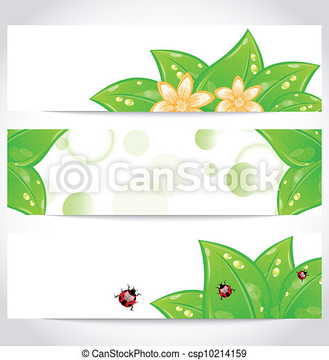 Set of bio concept design eco friendly banners (2) - csp10214159