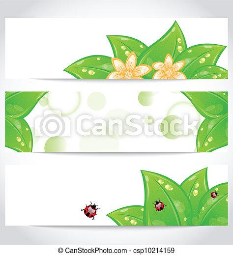 Set of bio concept design eco friendly banners (2) - csp10214159